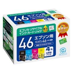 エレコム ECI-E464P/BOX [エコリカ リサイクルインク/エプソン/IC4CL46対応]
