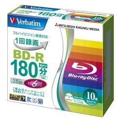 三菱化学メディア VBR130RP10V1 [BD-R 録画用 130分 1-6倍速 5mmケース10P]