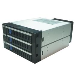 CREMAX MB453SPF-B [5インチベイ2段に3スロット SATA to SATA 対応ホットスワップ・ケース 黒]
