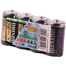 日立マクセル R14PU(BN) 4P [マンガン乾電池スーパーパワーエース、単2型、4本パック]
