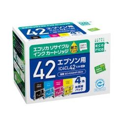 エレコム ECI-E424P/BOX [エコリカ リサイクルインク/エプソン/IC4CL42対応]