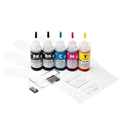 サンワサプライ INK-C325S30S5 [詰替インク(30ml) BCI-325PGBK・326BK・C・M・Y用]