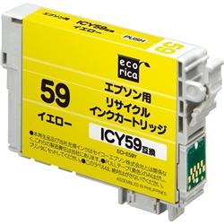 エレコム ECI-E59Y [エコリカ リサイクルインク/エプソン ICY59/イエロー(顔料)]