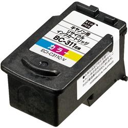 エレコム ECI-C311C-V [エコリカ リサイクルインク/キヤノン BC-311対応/カラー]