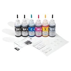 サンワサプライ INK-C326S30S6 [詰め替えインク(6色セット・30ml) BCI-325PGBK・326BK・C・M・Y・GY用]