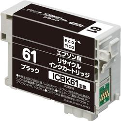 エレコム ECI-E61B [エコリカ リサイクルインク/EPSON ICBK61/ブラック]
