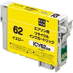 エレコム ECI-E62Y [エコリカ リサイクルインク/EPSON ICY62/イエロー]