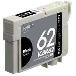 エレコム PLE-E62B [プレジール 汎用インクカートリッジ/EPSON ICBK62互換 黒(顔料)]