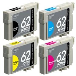 エレコム PLE-E624P/BOX [プレジール 汎用インク/IC4CL62互換 4色セット(顔料)]