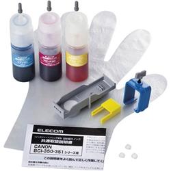 エレコム THC-351CSET5 [キヤノン用詰め替えインク/3色セット/詰替5回]