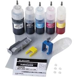 エレコム THC-351350SET5 [キヤノン用詰め替えインク/5色セット/詰替5回]