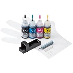 サンワサプライ INK-C351S30S4 [詰め替えインク(4色・各30ml)]