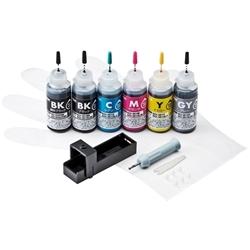 サンワサプライ INK-C351S30S6 [詰め替えインク(6色・各30ml)]