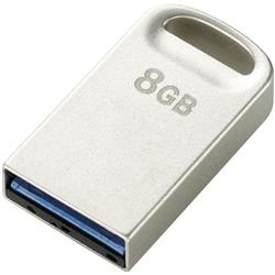エレコム MF-SU308GSV [セキュリティ対応 超小型USB3.0メモリ/8GB/シルバー]