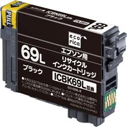 エレコム ECI-E69L-B [エコリカ リサイクルインク/EPSON/ICBK69L/大容量ブラック]